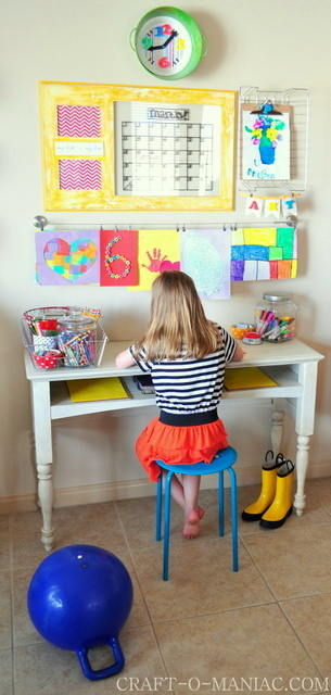 Art and Homework Station from Craft-O-Maniac