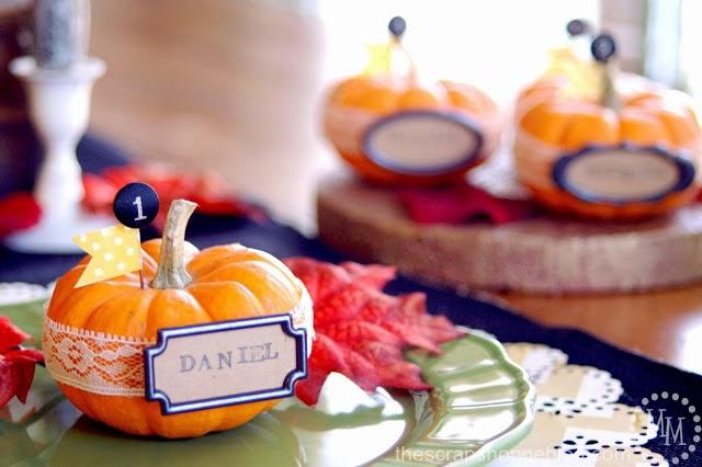 http://www.thescrapshoppeblog.com/2013/11/diy-thanksgiving-pumpkin-place-setting.html