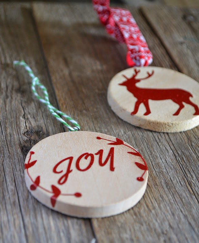 Handmade Chistmas Ornament - DIY Wood and Vinyl Ornamentsa