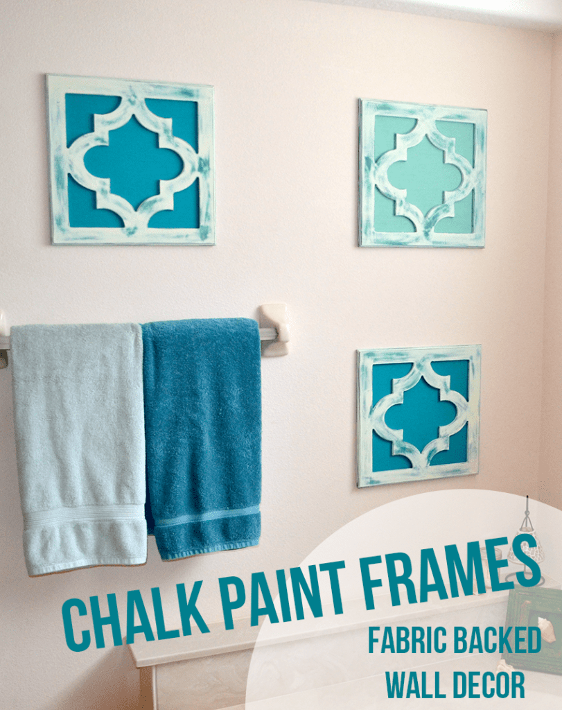 Chalk Paint Fabric Backed Frames #cutitoutalready