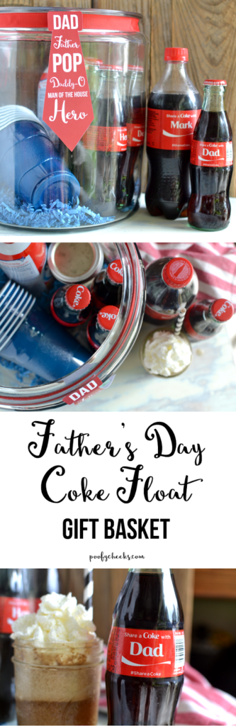 Father's Day Coke Float Basket with Free Printable – http://www.poofycheeks.com