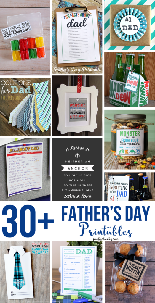 30+ FREE Father's Day Printables