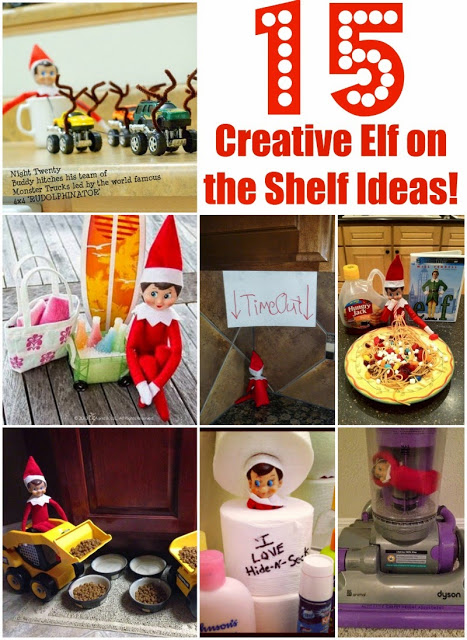 http://www.poofycheeks.com/2014/12/15-creative-elf-on-shelf-ideas.html