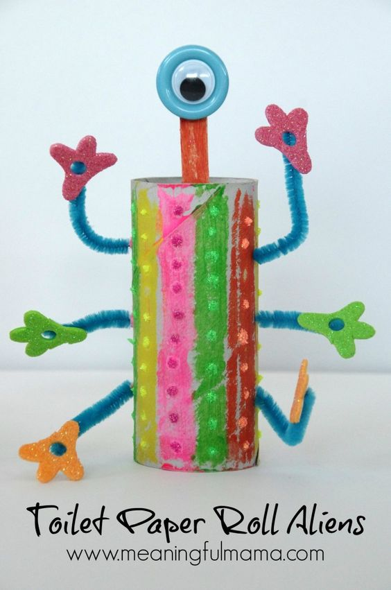 20 toilet paper roll crafts for kids of all ages poofy for Fun crafts for all ages