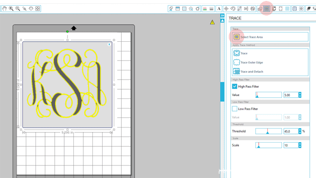 Silhouette Monogram Tutorial - step by step pictures to show you how.