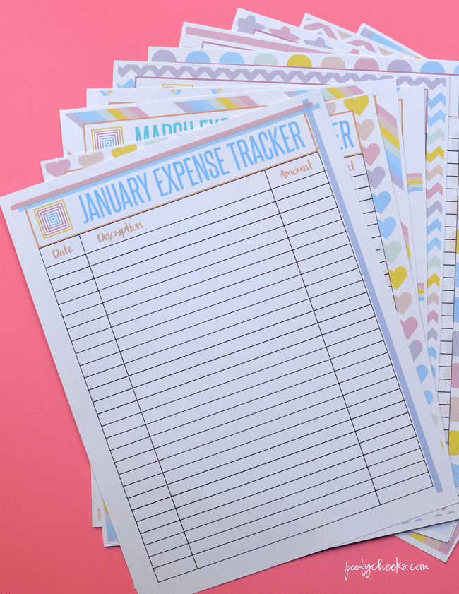 Income and Expense Printables